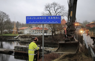 15 december 2020 - Kanalen fick ny skyltning.