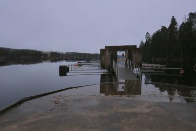 22 december 2020 - Sjön Foxen började svämma över.