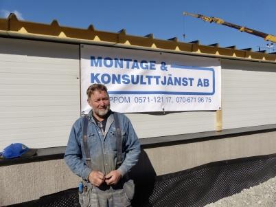 """2 maj 2013 - Gunnar """" i Smia """" Danielsson var huvudentreprenör för utbyggnaden 2013."""
