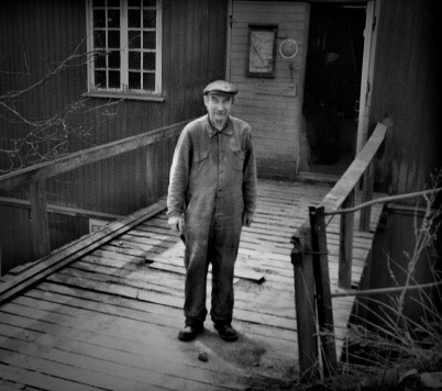 Den legendariske Mjölnaren Anders Nilsson, allmänt känd som Anners i Kvarna, foto privat.