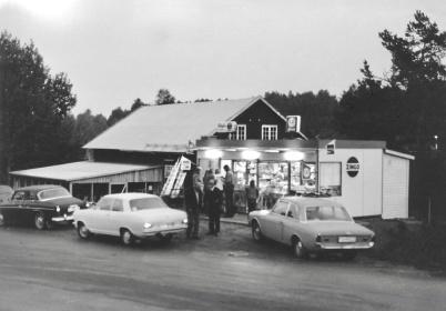 Centrumkiosken, kiosk och gatukök - 1970-talet? Foto Lars-Gunnar Karlsson