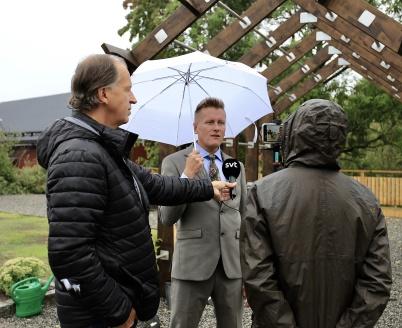 9 september 2020 - Massmedia visade intresse för nya Kioskparken.