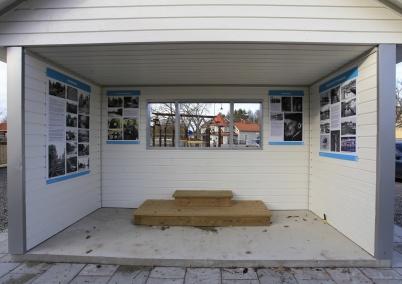 5 november 2020 - Permanent historisk utställning i kiosken.