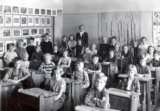 Odinskolan Vårterminen 1956