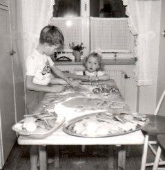 1957 julbak med Susanne