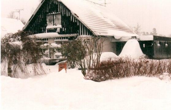 Vårt hus på Cypressvägen 6 i Fjärås nov 1995
