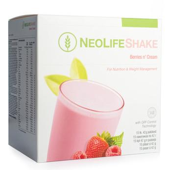 NY NeoLifeShake Berries n' Cream, måltidsersättande proteinshake, bär. Mindre socker - NY NeoLifeShake Berries n' Cream, måltidsersättande proteinshake, bär. Mindre socker