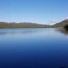 Tänndalsjön med Rutfjället och Hamrafjället