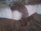 Div fräsfynd denna trädring var helt invuxen i stubben trädringen hade en dim på 1meter stubben var 130cm.  (Solliden)