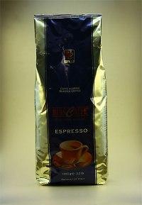 Biancaffe Blå 1 kg. En högkvalitativ blandning av Robusta och Arabicabönor. Karaktär som en syditaliensk espresso från Napoli regionen bör ha.
