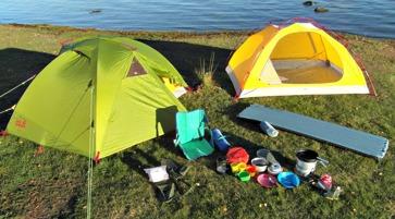 kajak camping