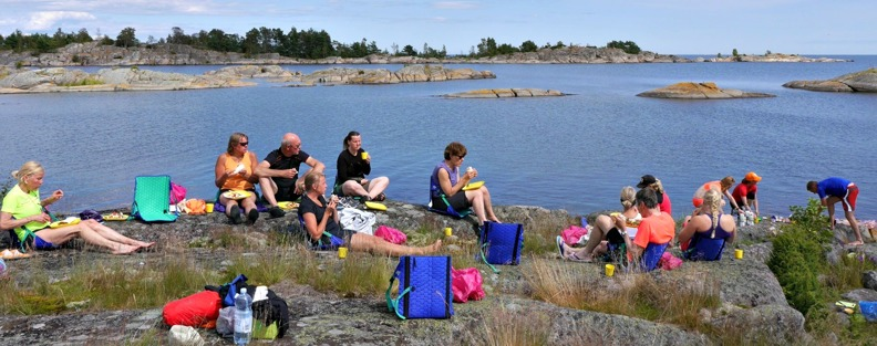Guided kayak tours in Sweden