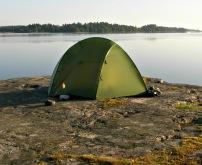 tält på ö