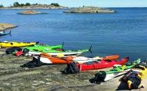 Kajaker för paddling i S:t Anna