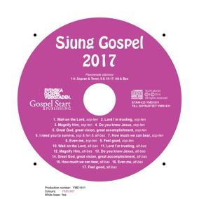 Sjung Gospel 2017 stämcd