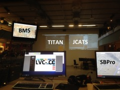 One picture 5 systems connected over DIS: BMS, Titan, JCATS, LVC-CC, SBPro