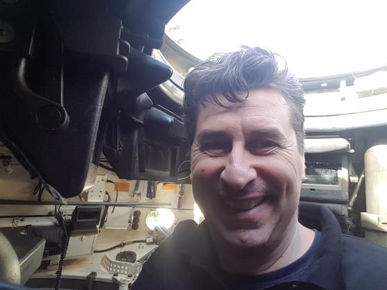 Ulf in a Leopard 1A5