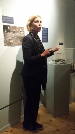 Marit Holgersson guidade på Medeltidsmuseet