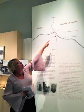 Hedvig Bruzæus var vår entusiastiska guide på Postmuseet.