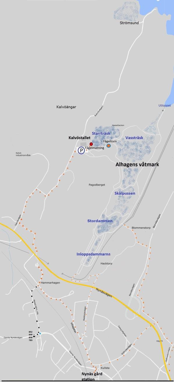 karta nr 2 Alhagens våtmark