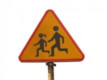 Varning för springande barn