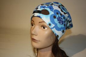 Brun/blå blom retro