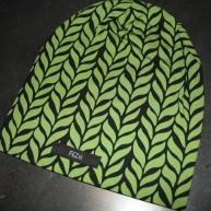 Svart  med gröna blad