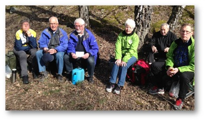 Bilden: Delar av det alltid glada gänget från Södrtälje!