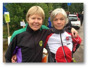 Fr. vänster: Karin Gustafsson (SMOL) och Britt Eriksson (SOK)