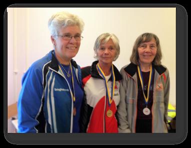 D65: 3:a Lena Wahss, segrare Britt Linnea Eriksson och 2:a Christina Westman