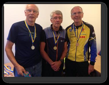 H70: 2:a Stig Israelsson, segrare Leif Nordlund och 3:a Alf Lindberg