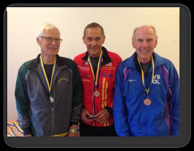 H75: 2:a Kjell Mjöberg, segrare Kuno Österlund och 3:a Folke Nyström