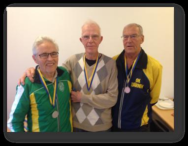 H80: 2:a Alf Lundkvist, segrare Bengt Lif och 3:a Nils Johansson.