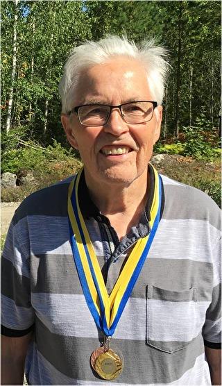 Alf Lundkvist, PRO Hällbybrunn, Mästare i klassen H85 sprint.