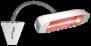 HELIOSA 998 - 1500 Watt i vit IPx5 - HELIOSA 998 - 1500 Watt i vit IPx5 Amber-Light