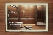 Spegel med belysning i ram