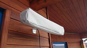 Skydd för IR-A värmare - Skydd i ljusgrå