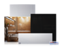 Infranomic 500 Watt SlimLine 900 x 600 i vit eller svart - Slimline 500 Watt i vit