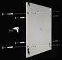 Infranomic 600 Watt SlimLine 1100 x 600 i vit eller svart