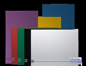 Infranomic 400 Watt SlimLine 700 x 600 i RAL färg - Infranomic RAL-FÄRG  400 Watt, 700 x 600mm, Aluram 10mm