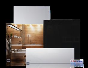 Infranomic 600 Watt SlimLine Spegel 1100 x 600 - Infranomic 600 Watt SlimLine Spegel 1100 x 600