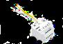 Digital trådlös Thermostat X3D - extra Mottagare i-vägg X3D
