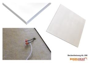 Aluminium panel IR-C för undertak med synlig bärram 390 W