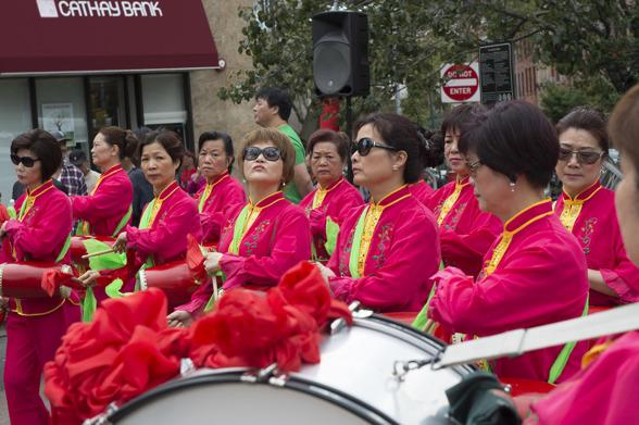 Minneshållandet av avlidna demokratiföreträdare i Chinatown, New York
