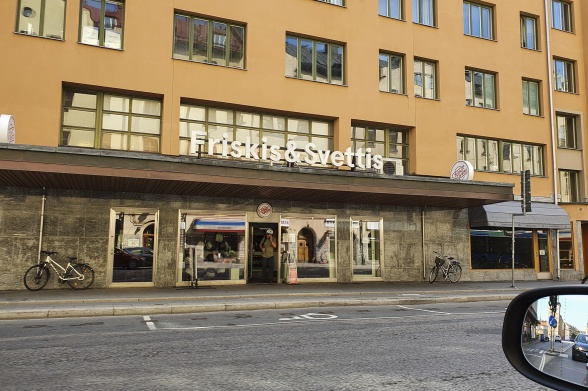 Tidigare Kamraspalatset i Stockholm. Sett ur backspegeln.