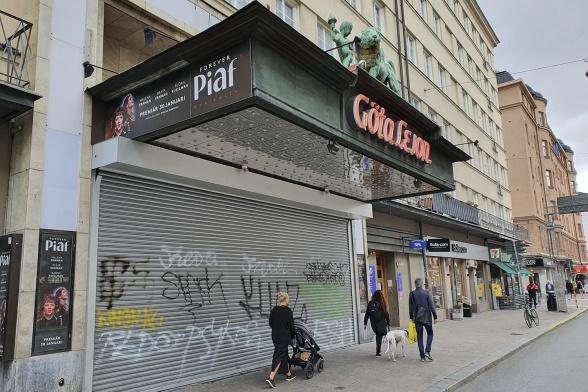 Göta lejon på Götgatan på Söder i Stockholm.