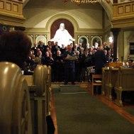 """Gladhammar kyrka """"  Roger Appelqvist sjunger """"Gören portarna höga """""""