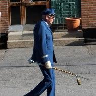 """Tambur major Gunnar Andersson  """" Jag undrar om musikanterna är med ??"""
