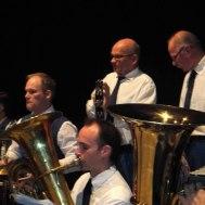 Tre trummslagarpojkar ; Magnus Karlsson ,Göthe Medner , Göran Carlsson. I förgrunden Fredrik Ekvall  tuba