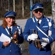 Två galda musikanter med nya kornetter. Eva Larsson , Jan Marberg